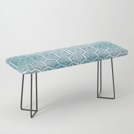 Silver Grid Bench