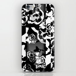 Black and White Skin Floral iPhone Skin