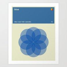 Color Print - Blue Art Print