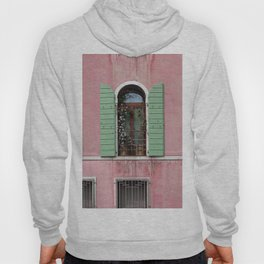 Venice Window In Pink And Green Hoody