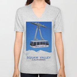 Squaw Valley Ski Resort ,LakeTahoe , California Unisex V-Neck