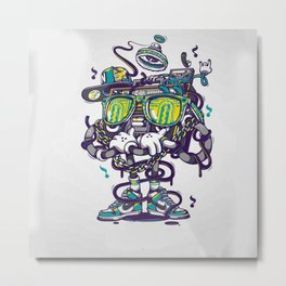 boombox music Metal Print