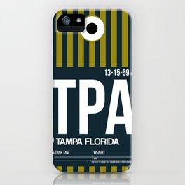 TPA Tampa Luggage Tag 2 iPhone Case
