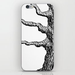 Gnarly Old Maple Tree Illustration iPhone Skin