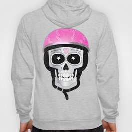 Day of the Dead Biker Skull Hoody