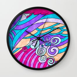 Colorful Simple Painting Abstract Wall Clock