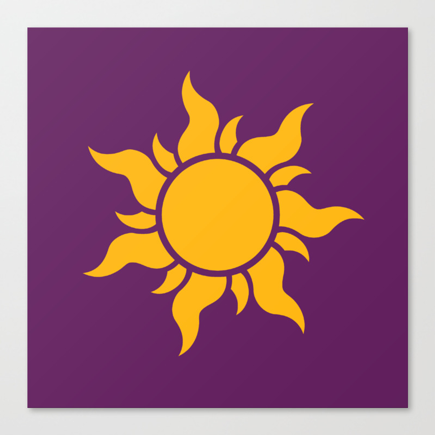 Tangled Rapunzel Sun Logo Corona Symbol Canvas Print By Teohoble Society6