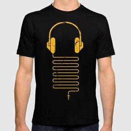 Gold Headphones T-shirt