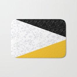 Black yellow white flap Bath Mat