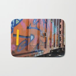 abstract graffiti Bath Mat