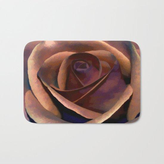 Dreamy Rustic Rose Bath Mat