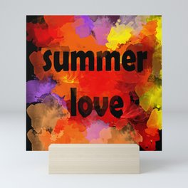 I love summer . Abstraction . The strokes of paint . Mini Art Print
