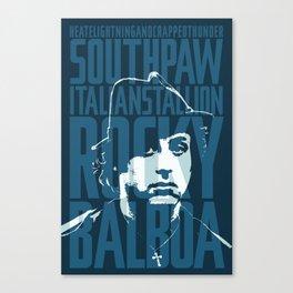 Rocky Balboa Minimal Vector Film Poster Canvas Print
