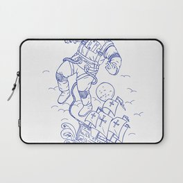 Astronaut Tethered Caravel Ship Drawing Laptop Sleeve