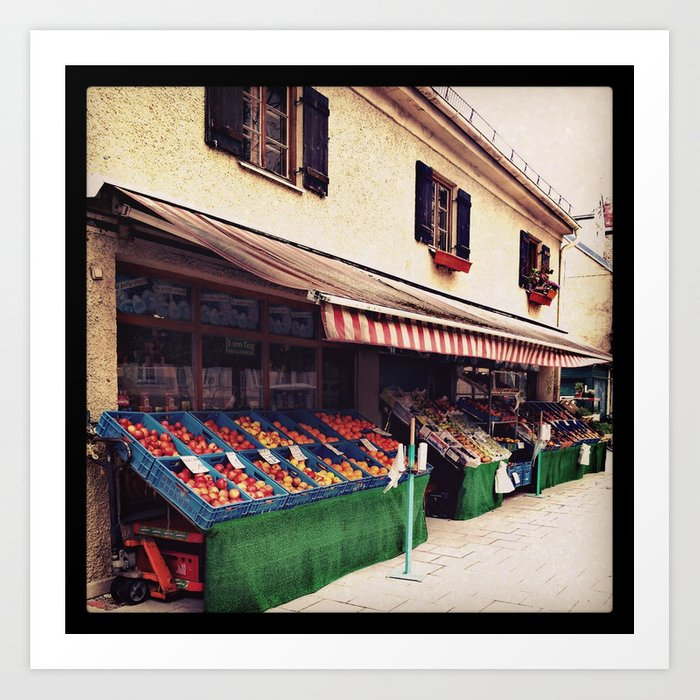Obststandl - fruits and vegetables Art Print