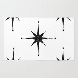 black 8 point stars Rug