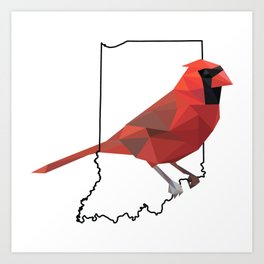 Indiana – Northern Cardinal Art Print