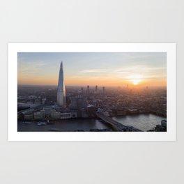 London at sunset, United Kingdom. Art Print
