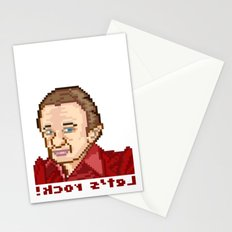 !kcor s'teL (Man From Another Place Pixel Art) Stationery Cards
