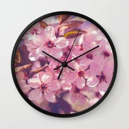 Sakura photography, pink blossoms Wall Clock