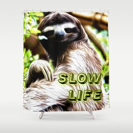 Slow Life Shower Curtain