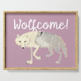 Totem Artic Wolf lilac Serving Tray