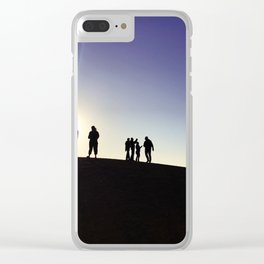 Sunset Silhouette Gang Clear iPhone Case