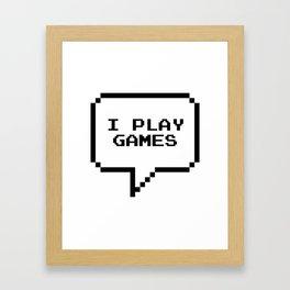 Play games Framed Art Print