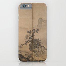 Japanese Art Print - Tenshō Shūbun - Shan Shui Landscape after Xia Gui (1420s) iPhone Case