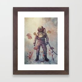 Deep Sea Garden - colour option Framed Art Print