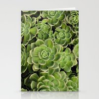 succulent Stationery Cards featuring Succulent by Cynthia del Rio
