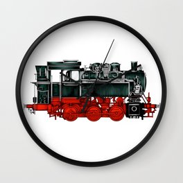 Locomotive Train Railroad Railway Steam Vintage Wall Clock