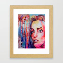 Between Palms  Framed Art Print