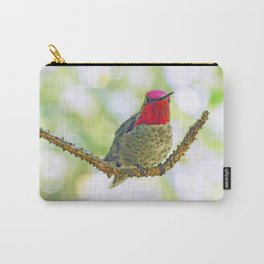 Anna's Hummingbird on a Twig Carry-All Pouch
