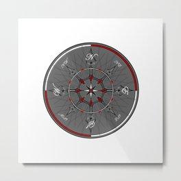 Alice Compass Metal Print