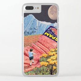 Spam Mountain Clear iPhone Case