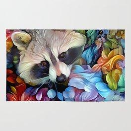 Peekaboo Raccoon Rug