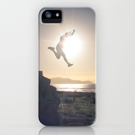 Sunset Jump iPhone Case