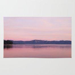 Rose Colored Dream of Lake Tahoe Rug