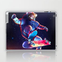 Synthwave Space #24: Astronaut and skateboard Laptop & iPad Skin
