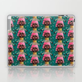 Girly african doll in pink dress Laptop & iPad Skin