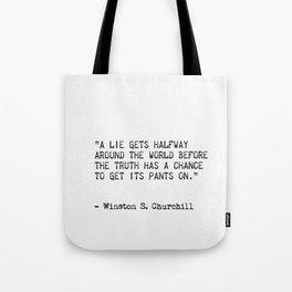 Winston S. Churchill Tote Bag