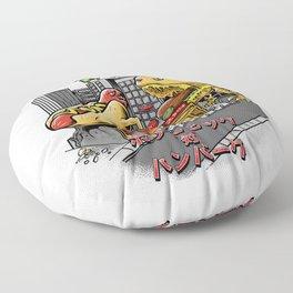 hotdog vs hambuger Floor Pillow