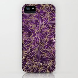 Tangles Violet and Gold iPhone Case