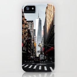 Lower Manhattan One WTC iPhone Case