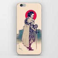 sword iPhone & iPod Skins featuring Dude&Sword by Aleksander Rostov