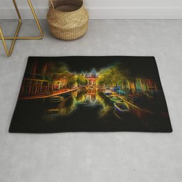 Neon Amsterdam Night Cityview Rug