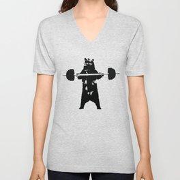 Lifting Bear Unisex V-Neck