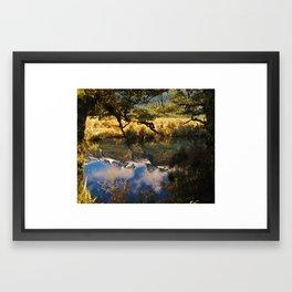 Mirror Lakes Framed Art Print