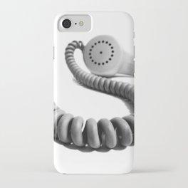 Vintage Telephone Handset monochrome iPhone Case